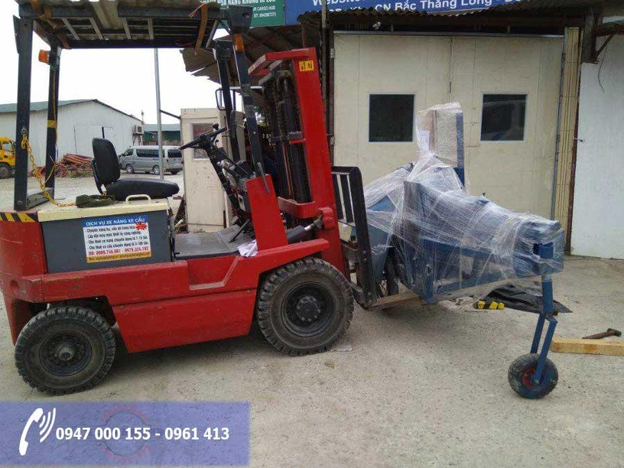 Vận chuyển máy bẻ đai sắt tới Quảng Ning bằng xe nâng