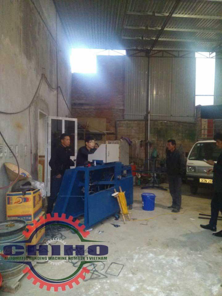 Giao máy bẻ đai sắt tại Hải Phòng