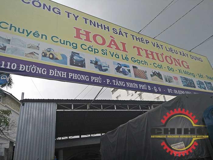 Giao máy bẻ đai sắt tự động tại cơ sở VLXD Hoài Thương