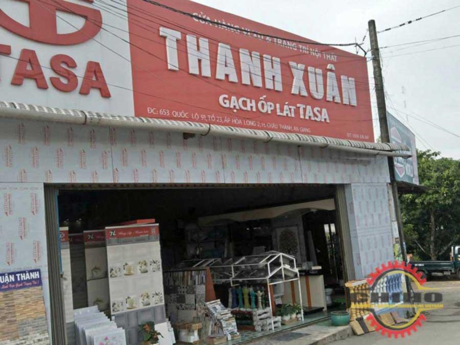 Giao máy bẻ đai sắt tự động tại TNHH SX TM DV THANH XUÂN ( QL 91 , thị trấn An Châu, Châu Thành An Giang)