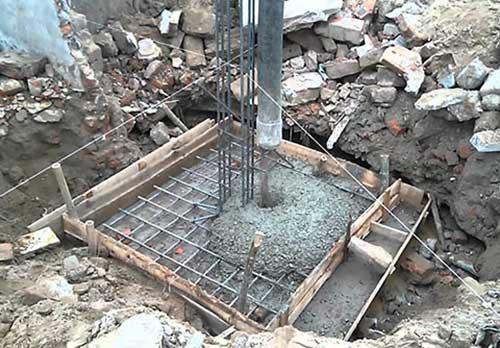 Đổ móng trong xây dựng