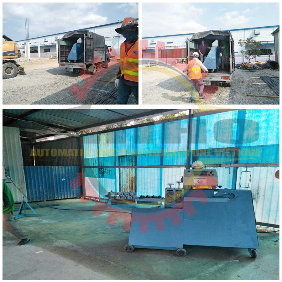 Giao máy bẻ đai sắt tại Nhơn Trạch Đồng Nai