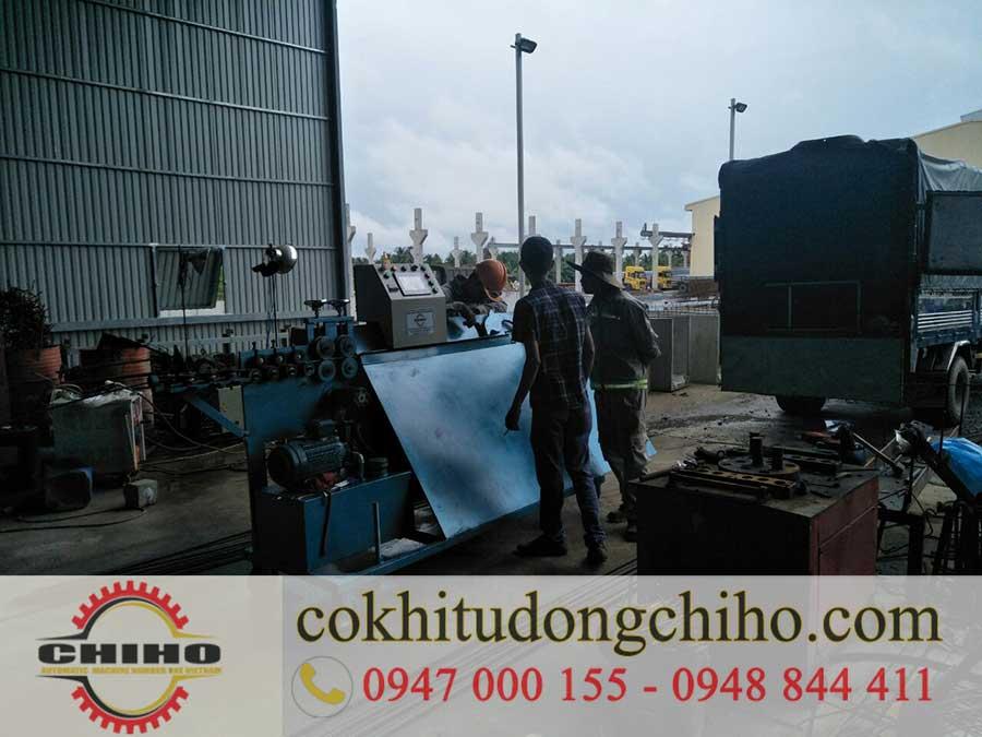 Giao máy bẻ đai sắt tại Công ty xây dựng HAMACO Hậu Giang