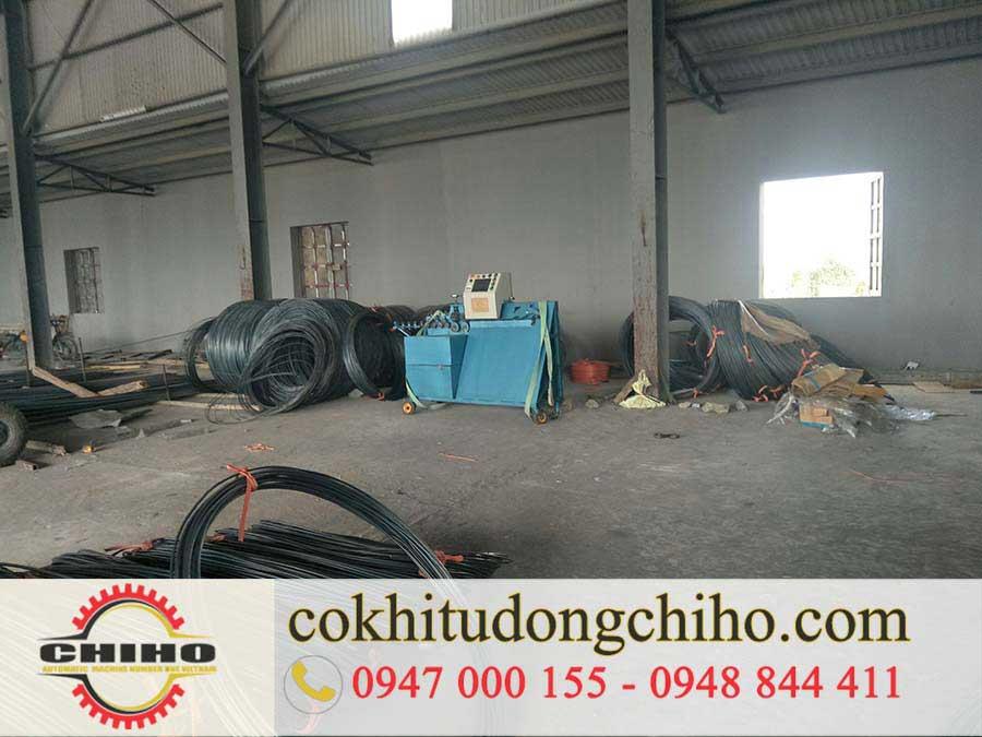 Bàn giao máy bẻ đai sắt tại Hà Nội