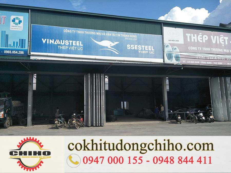 Bàn giao máy bẻ đai sắt tại Thái Bình